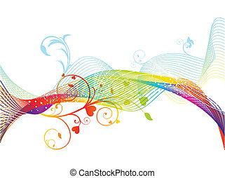 abstract colorful rainbow floral