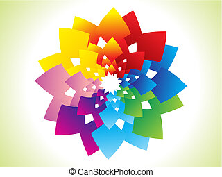 abstract colorful rainbow flower