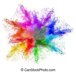 abstract colorful rainbow holi powder color cloud