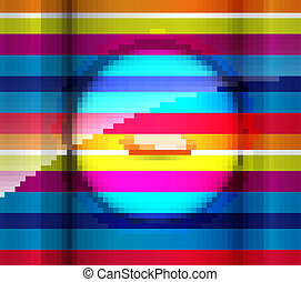 abstract colorful rainbow lines fantastic new style vector
