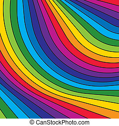 Abstract colorful rainbow stripes. Vector.