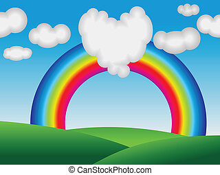 abstract colorful rainbow with love
