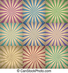 Abstract Colorful Retro Background Vector Illustration