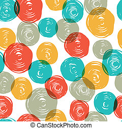 Abstract colorful retro seamless pattern (balls doodles). Vector, EPS10