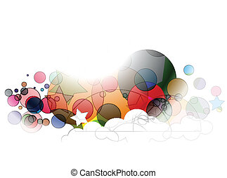 Abstract colorful retro vector background.