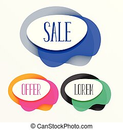 abstract colorful sale tags banner