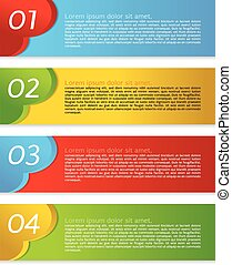 Abstract Colorful Set Of Banner.
