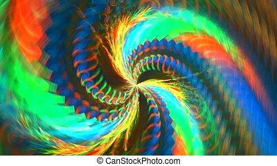 Abstract colorful shapes spinning like a carousel or in a...