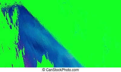 abstract colorful shapes transition over green screen