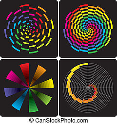 Abstract colorful shapes. Vector.