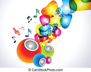 abstract colorful sound background