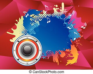 abstract colorful sound explode