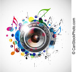 speaker design - abstract colorful speaker design background...