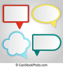 Abstract colorful speech balloons banners