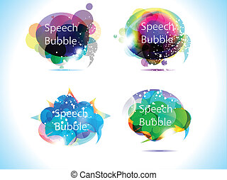 abstract colorful speech bubble