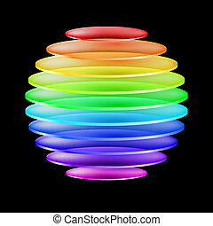 Abstract colorful sphere - Abstract sphere made of colorful...