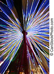 Abstract Colorful Spinning Ferris Wheel
