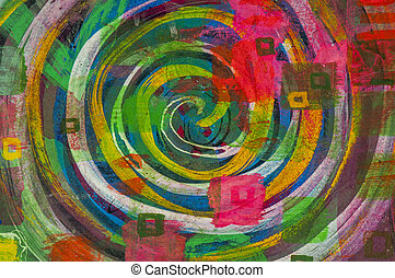 Abstract colorful spiral background