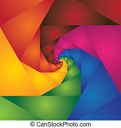abstract colorful spiral of steps leading to infinity - vector background. The graphic contains colors like red, orange, yellow, pink, blue, green and brown