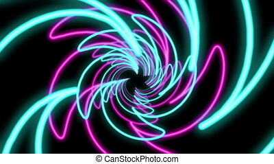"""Abstract Colorful Spiral Shaped Tunnel"""