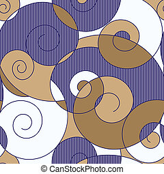 Abstract colorful spirals seamless