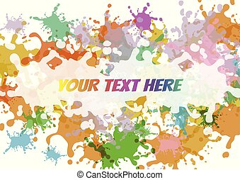 Abstract colorful splash on white background. Vector