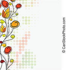 Abstract colorful spring flower pattern