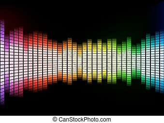 Abstract Colorful Squares Background