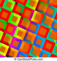Abstract Colorful Squares Background - Creative