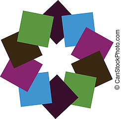Abstract colorful squares logo