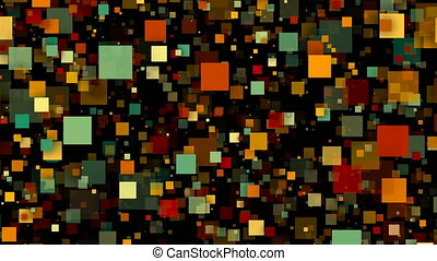 Abstract colorful Squares. Seamless loop animation background