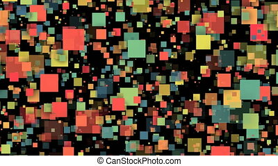 Abstract colorful Squares. Seamless loop animation...