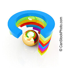 Abstract colorful structure with ball in the center