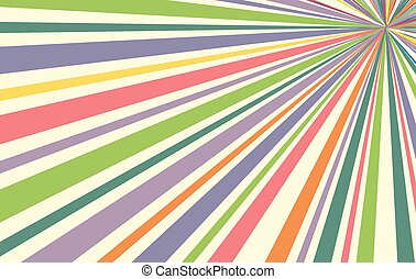 Abstract Colorful Sunburst Banner