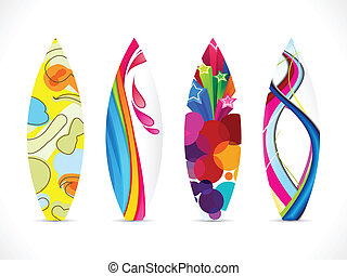 abstract colorful surf board icon