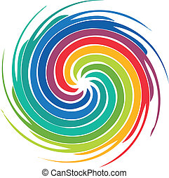Abstract colorful swirl image logo - Abstract colorful swirl...