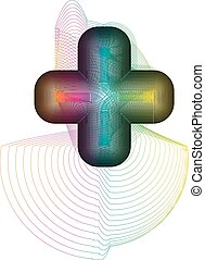 Abstract colorful symbol