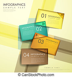 abstract colorful tag infographics