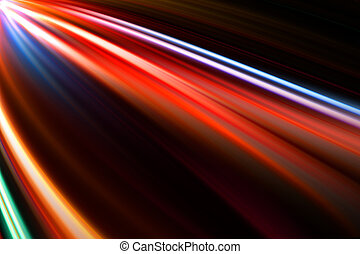 abstract colorful trails