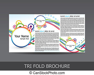 abstract colorful tri fold brochure
