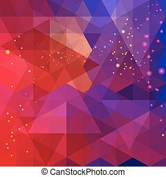 Abstract colorful triangle pattern background. Vector.