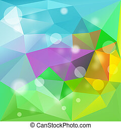 Abstract Colorful Triangle Polygonal Background