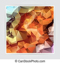 Abstract Colorful Triangle Polygonal vector background -...