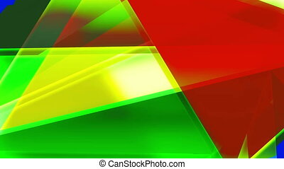 Abstract colorful triangles background loop