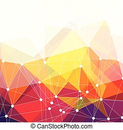 Abstract colorful triangles design, vector background