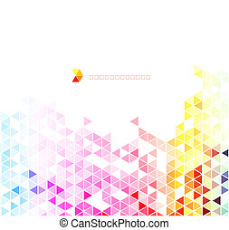 Abstract colorful triangles vector background.