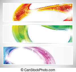 Abstract colorful vecter header set