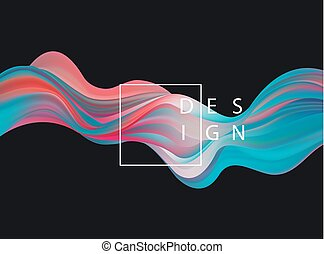 Abstract colorful vector background, color flow liquid wave...