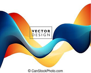 Abstract colorful vector background, color flow liquid wave for design brochure, website, flyer.