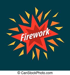 Abstract colorful vector logo for fireworks